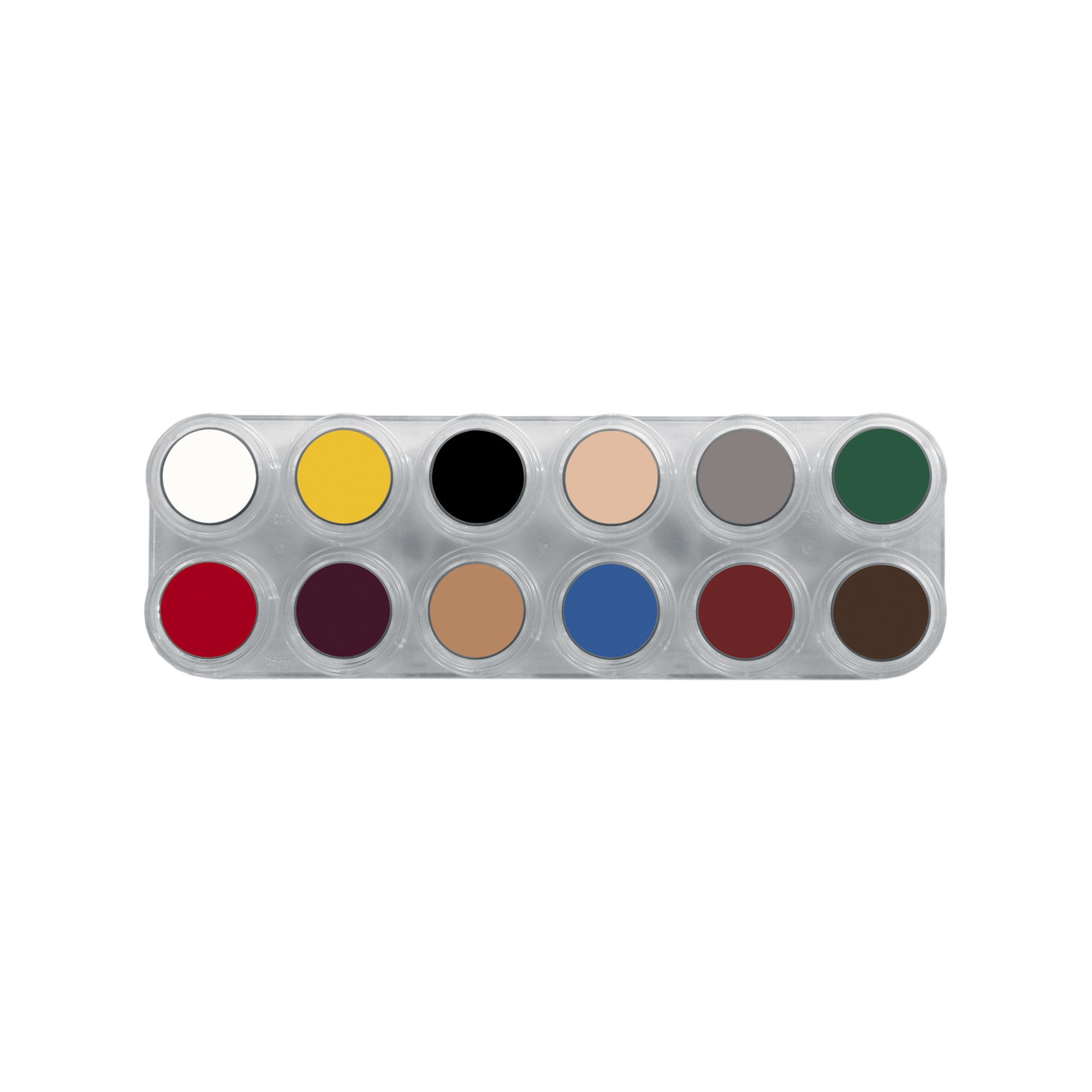 Grimas Pure Crème 12 Colour Face Paint  Palette - B - Red Carpet FX - Professional Makeup