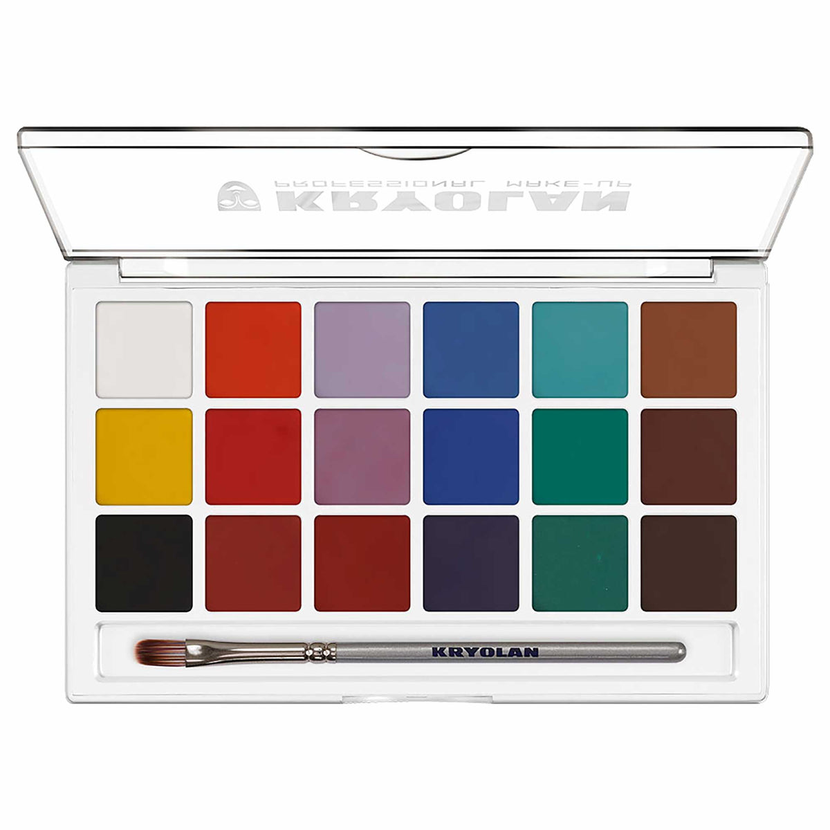 Kryolan AQUACOLOR 18 Palette - Face & Body Paint