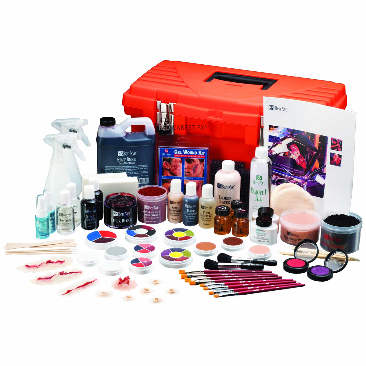 Ben Nye EMT Master Moulage Kit - Ultimate Pro Special FX Kit