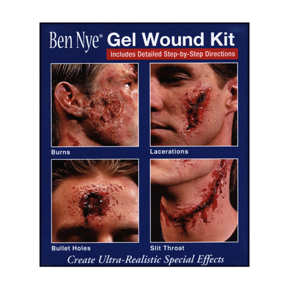 Ben Nye Professional Gel Wound Kit - Red Carpet FX - Professional Makeup