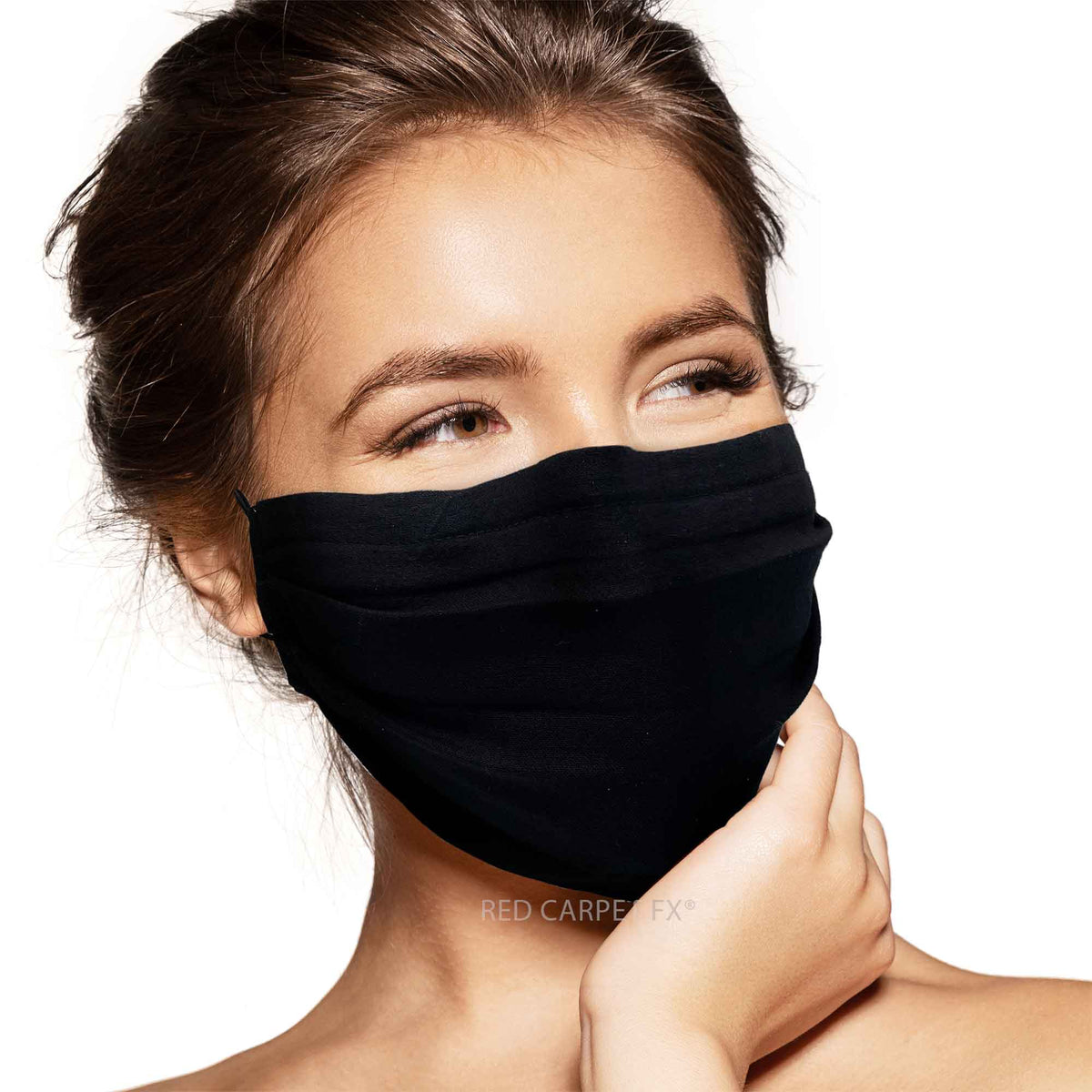 Pebbles Handmade 3 Layer Cotton Face Mask - Black