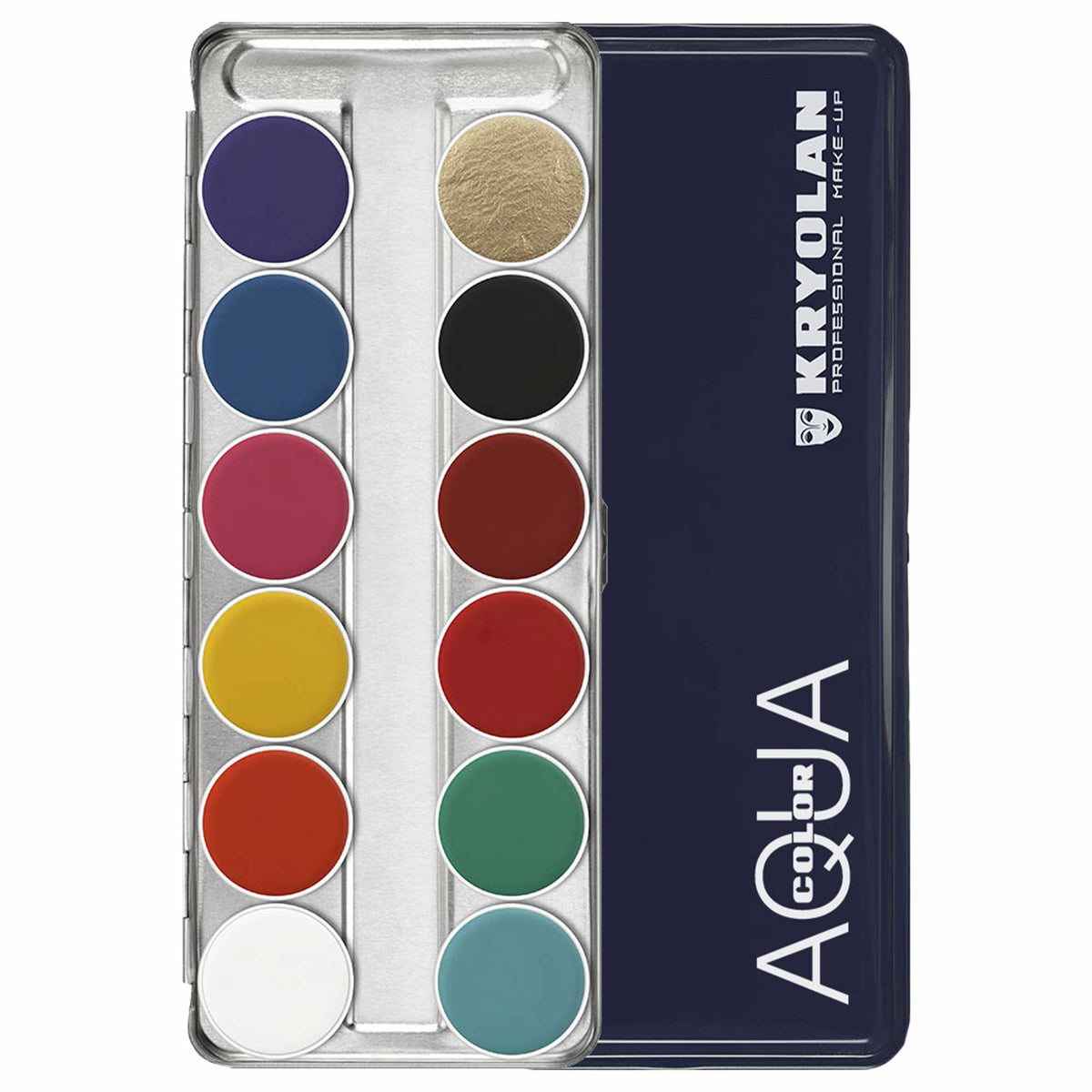 Kryolan AQUACOLOR 12 Palette - Face & Body Paint - FP
