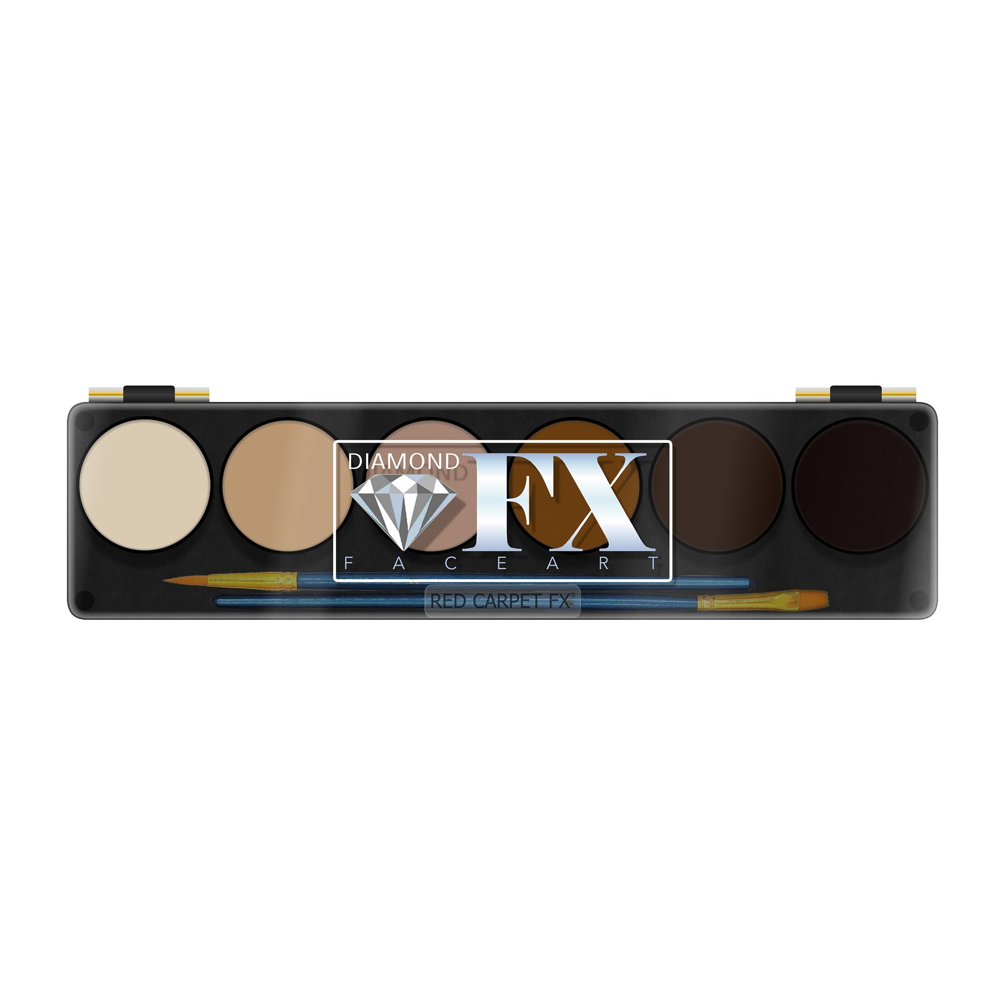 Diamond FX Face & Body Paint Skin Tones 6 Colour Palette - Red Carpet FX - Professional Makeup