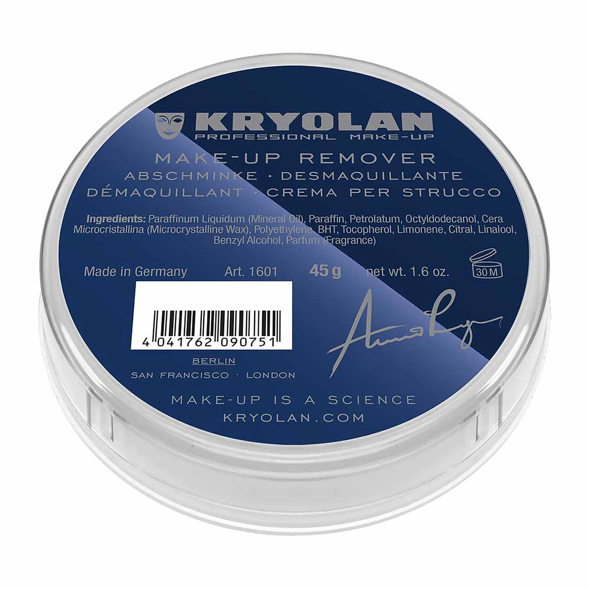 Kryolan Abschminke - Makeup Removing Cream