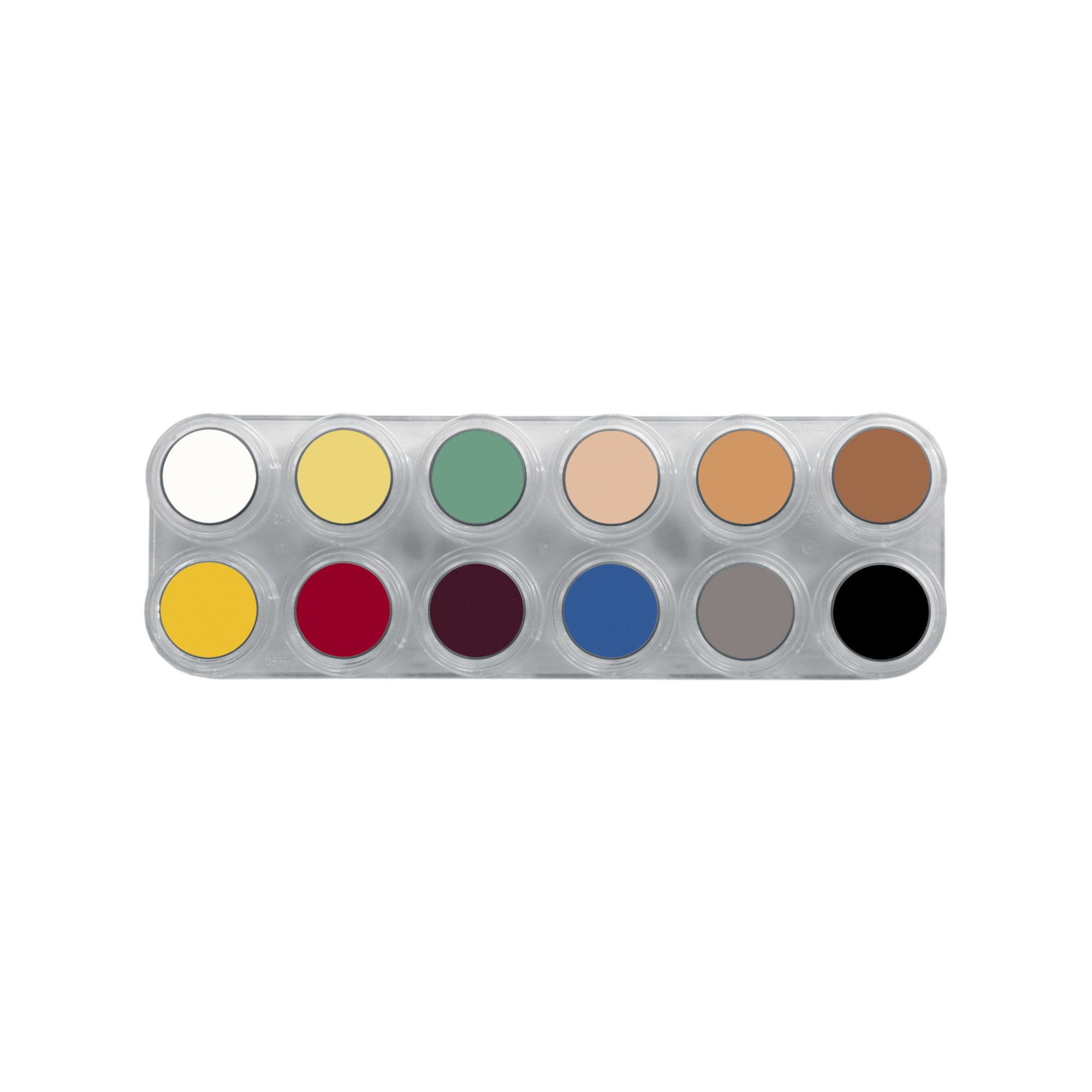 Grimas Pure Crème 12 Colour Face Paint  Palette - L - Red Carpet FX - Professional Makeup