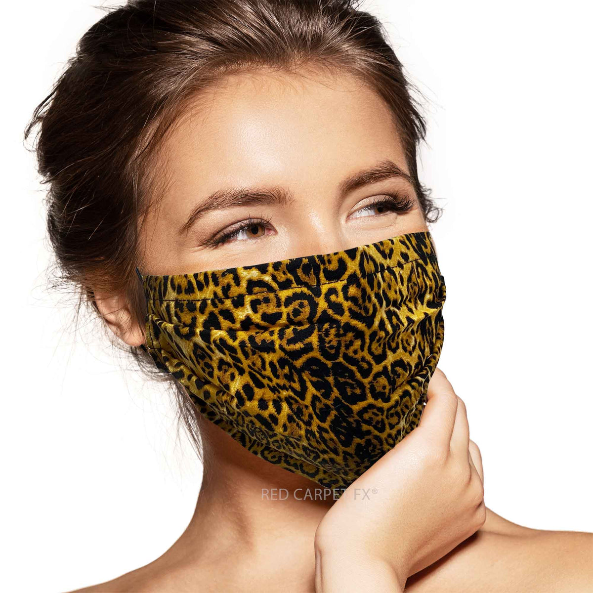 Pebbles Handmade Pleated Cotton Face Mask - Leopard