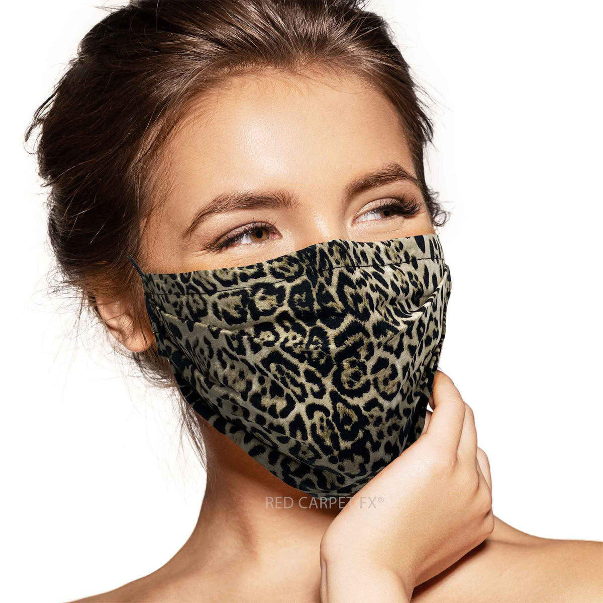 Pebbles Handmade Pleated Cotton Face Mask - Lynx
