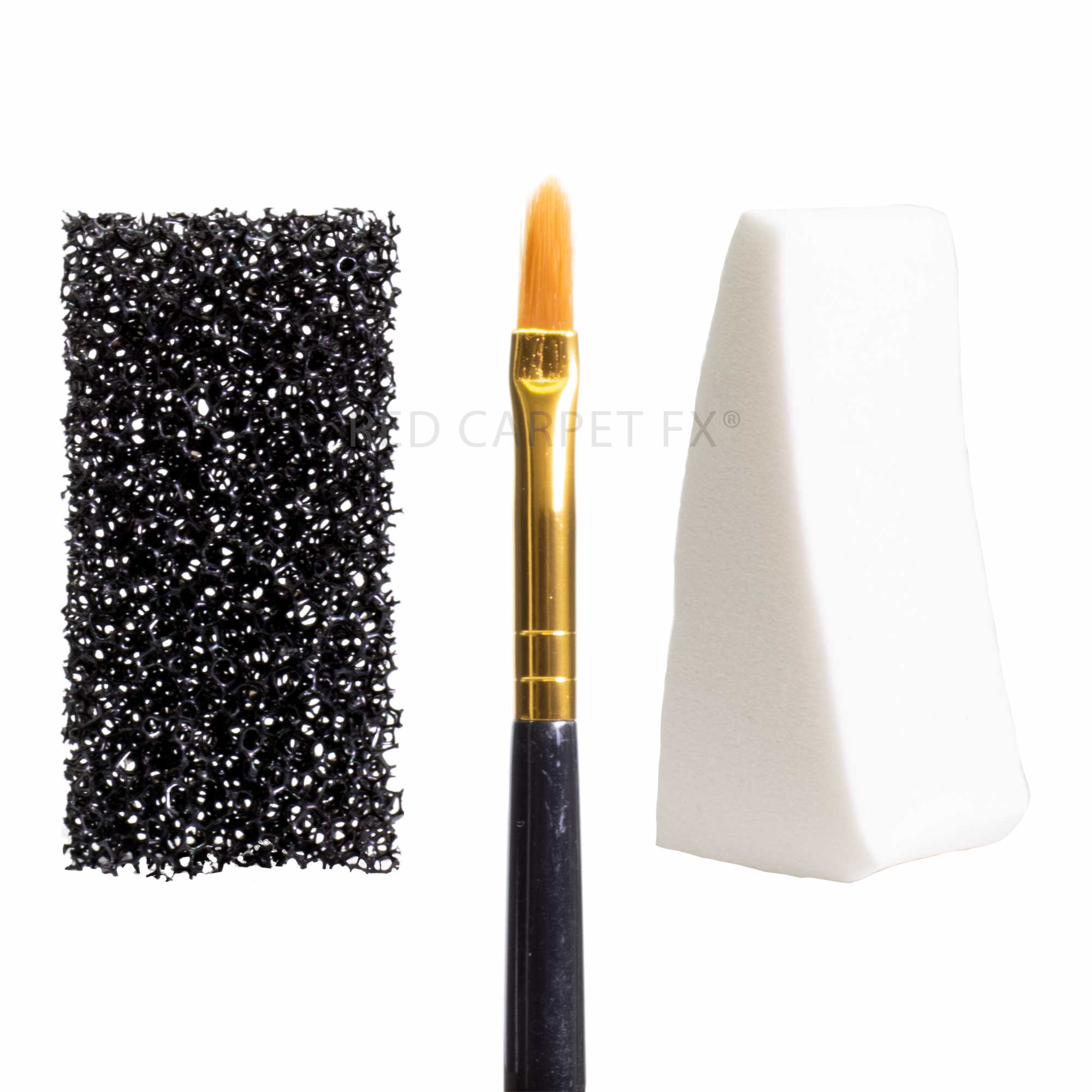 Make-up FX Filbert Brush, Stipple Sponge & Wedge Set
