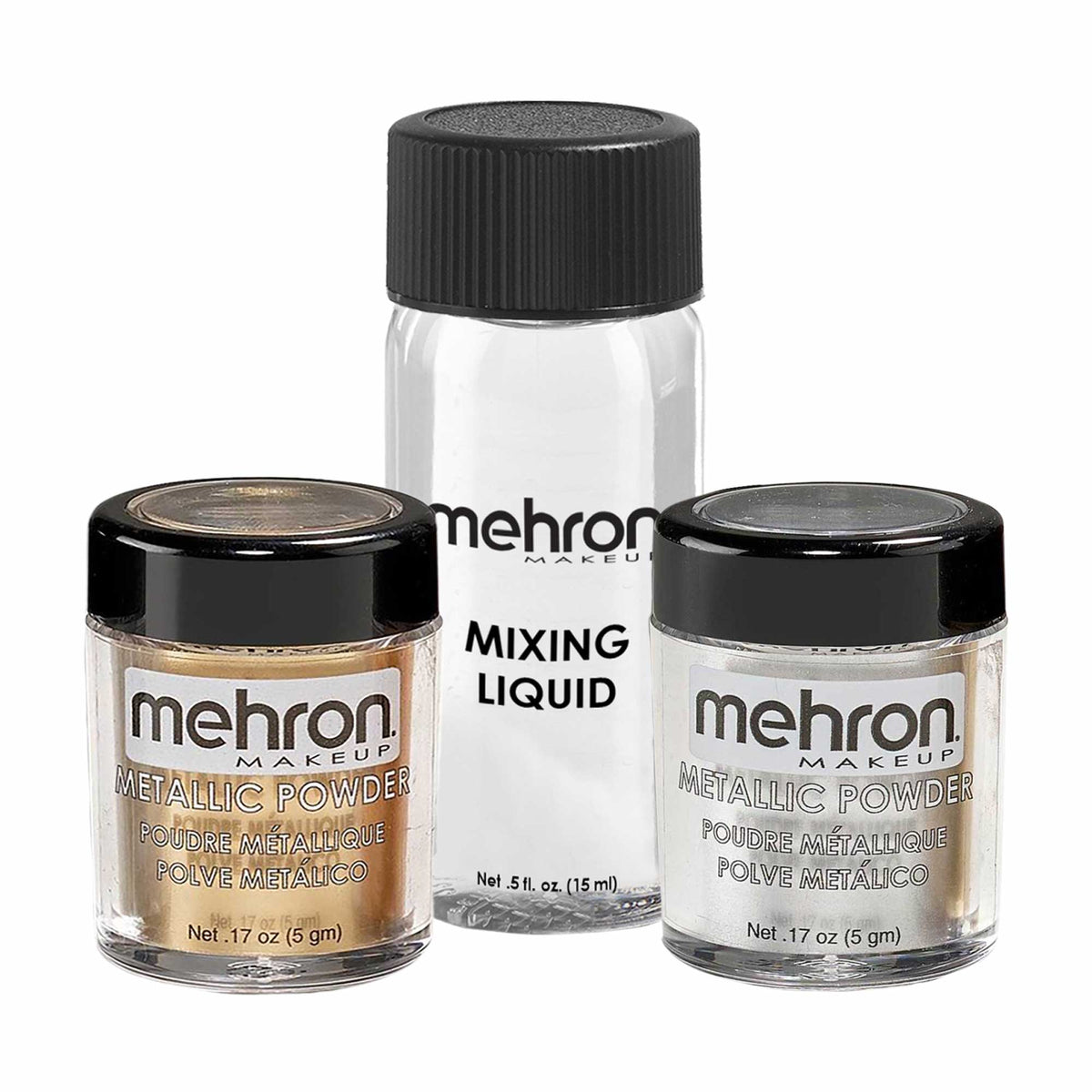 Mehron Metallic Powder With Mixing Liquid