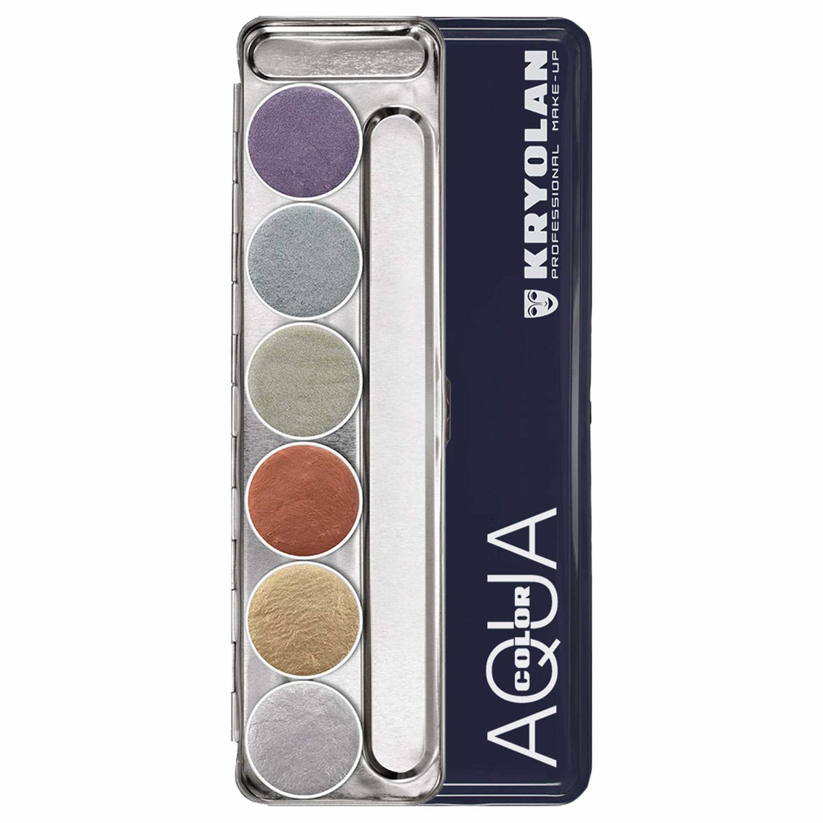Kryolan AQUACOLOR Metallic 6 Palette - Face & Body Paint