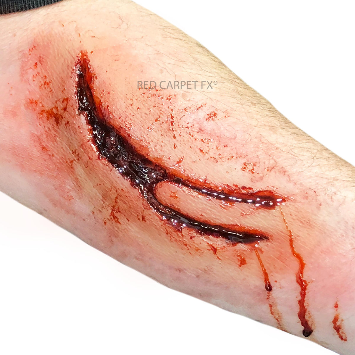 Monster FX Gelatine or Silicone Prosthetic - Machette Laceration - Red Carpet FX - Professional Makeup