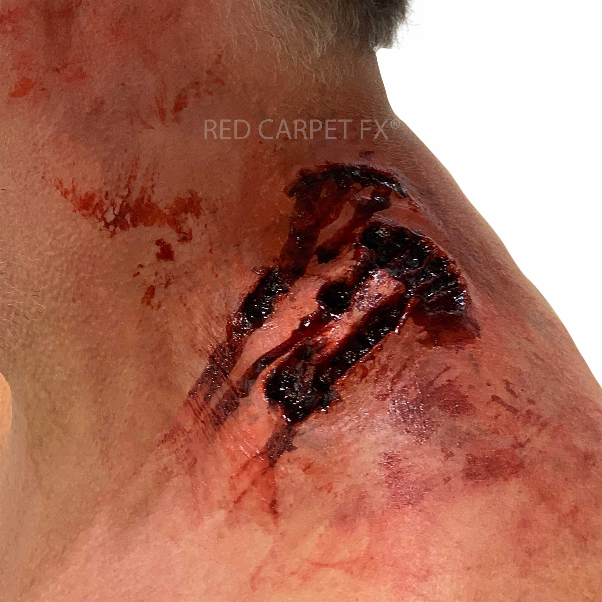 Monster FX Gelatine or Silicone Prosthetic - Neck Bite - Red Carpet FX - Professional Makeup