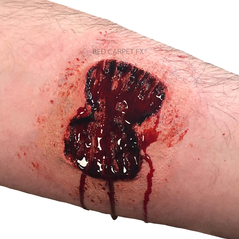 Monster FX Gelatine or Silicone Prosthetic - Enhanced Zombie Bite - Red Carpet FX - Professional Makeup