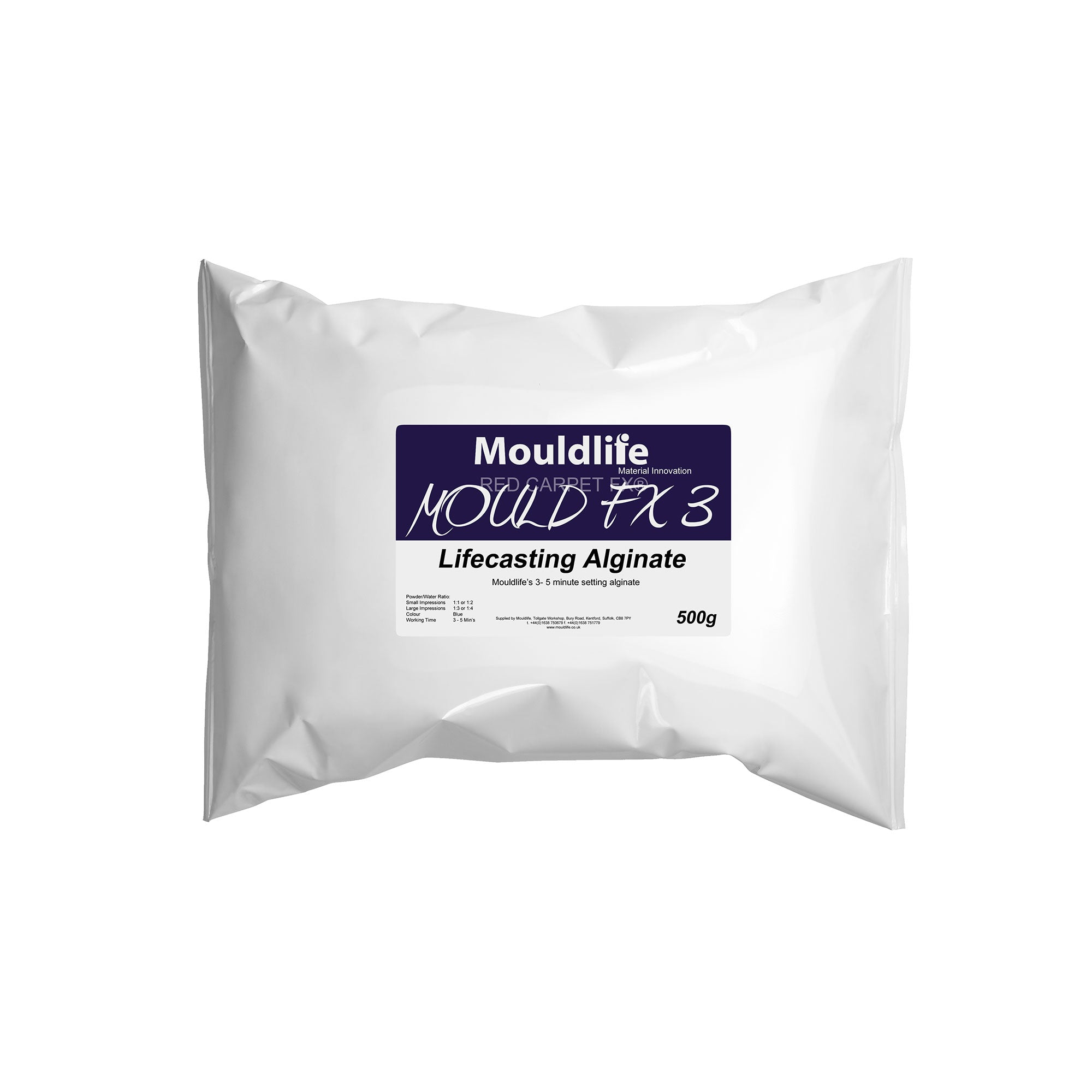Mouldlife Mould FX Alginate 3 (Regular Set) - Red Carpet FX - Professional Makeup