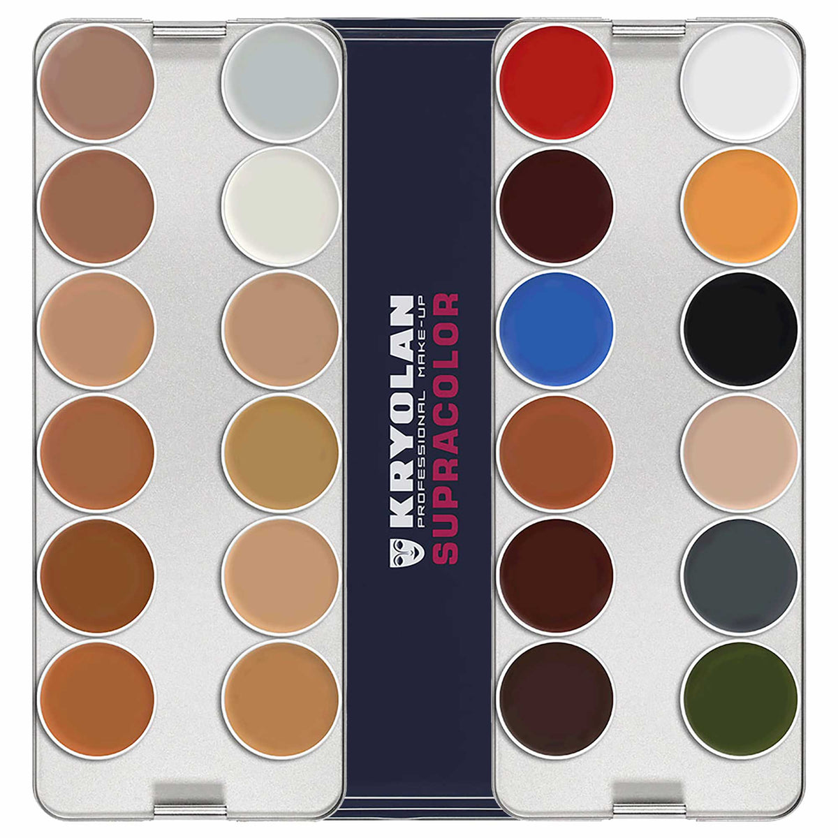 Kryolan SUPRACOLOR 24 Palette - Face & Body Paint - N