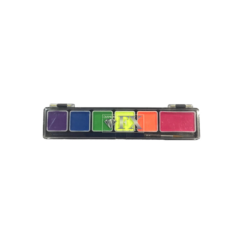 Diamond FX Special FX Paint Neon 6 Colour Mini Palette - Red Carpet FX - Professional Makeup