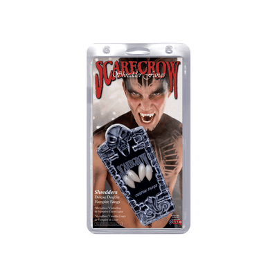 Scarecrow Custom Shredders Deluxe Double Vampire Fangs - Red Carpet FX - Professional Makeup