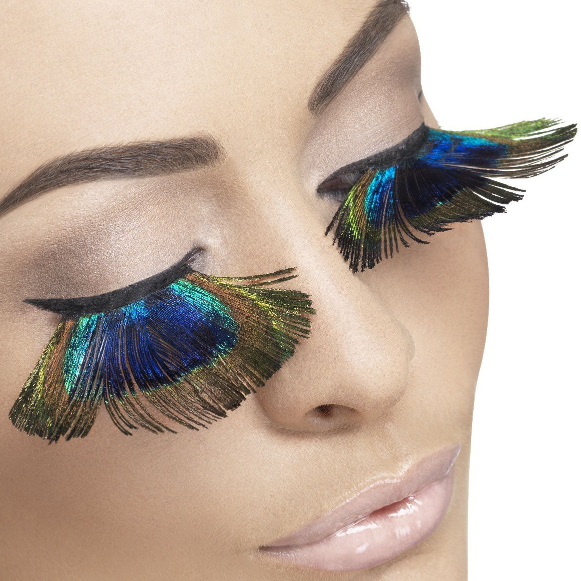 8a58ed309cd Fever False Eyelashes - Blue Peacock Feathers - Red Carpet FX -  Professional Makeup