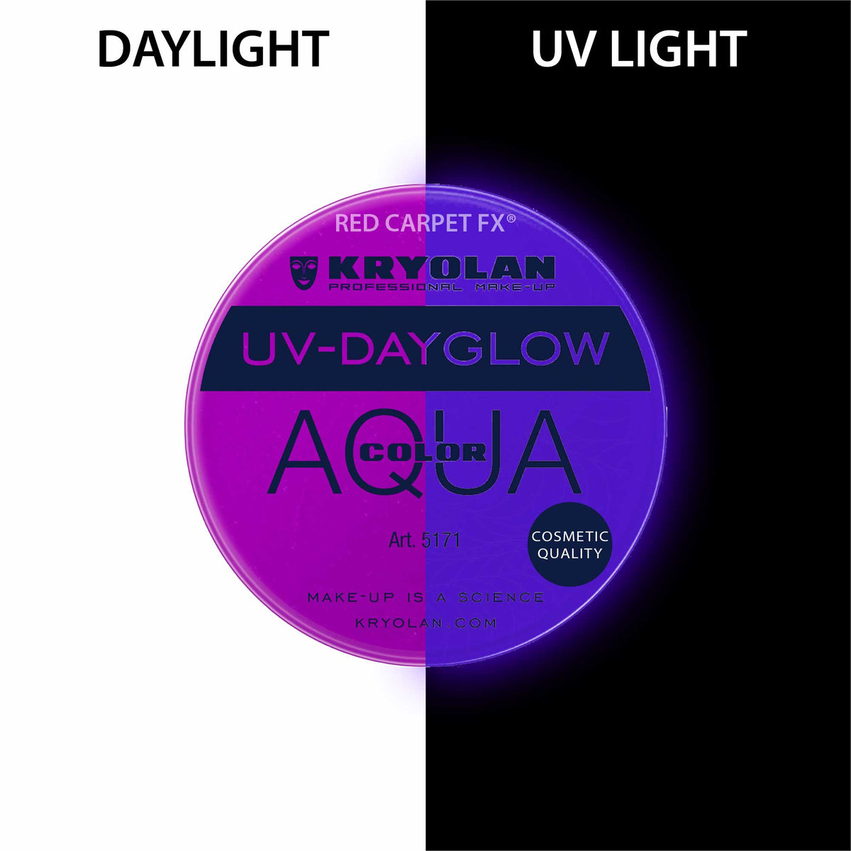 Kryolan AQUACOLOR UV-Dayglow - Water Based Face & Body Paint