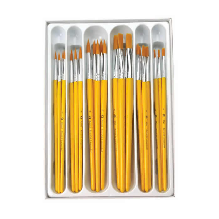 Royal & Langnickel Gold Taklon 30 Piece Classroom Value Brush Pack