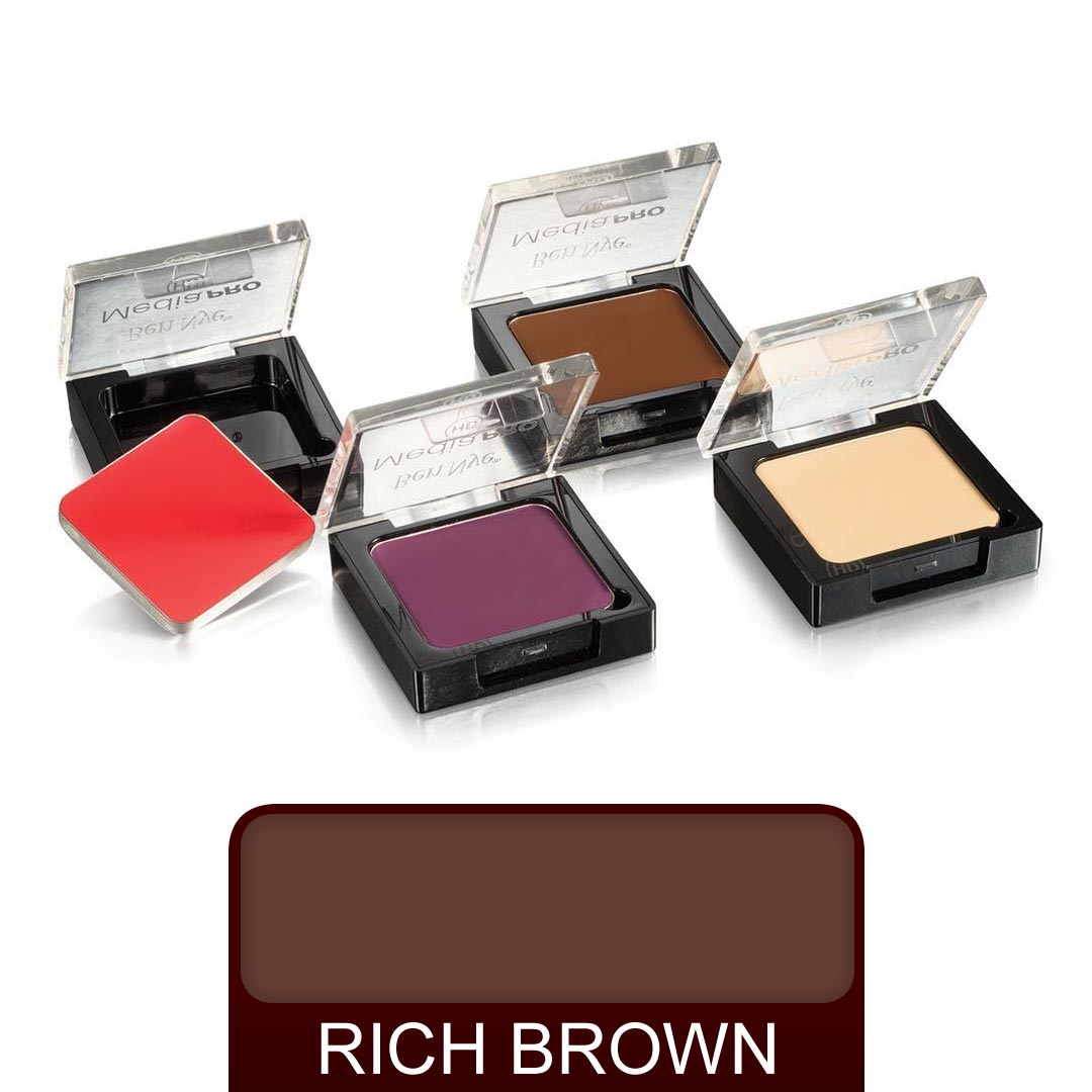 Ben Nye Media Pro Creme Shadow - Rich Brown - Red Carpet FX - Professional Makeup