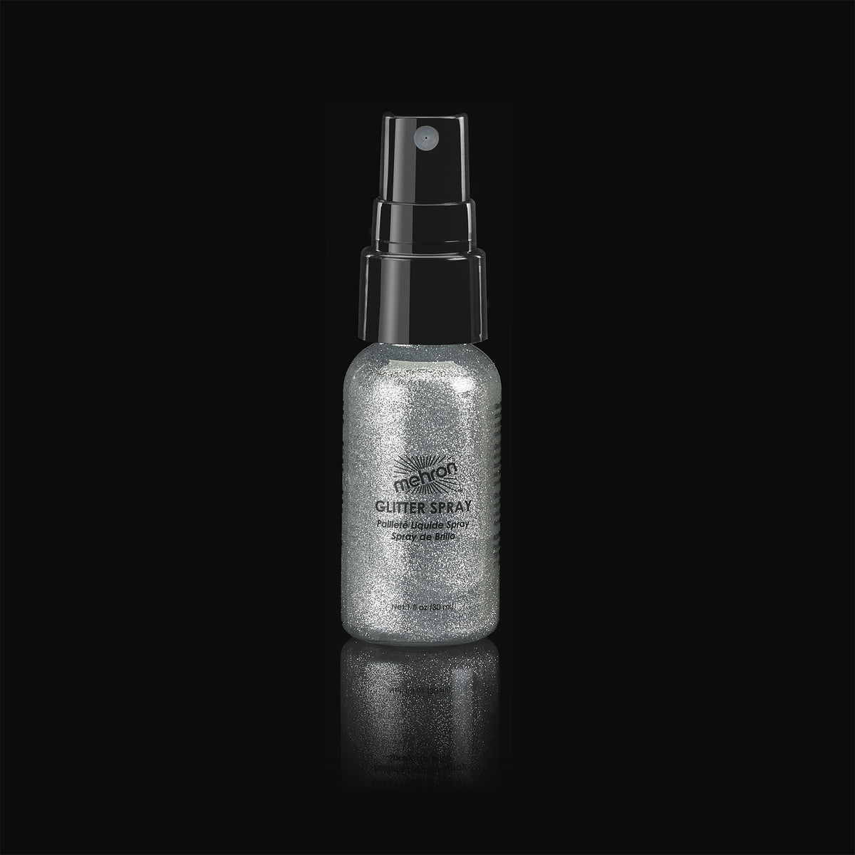 Mehron Glitter Spray - Silver - Red Carpet FX - Professional Makeup