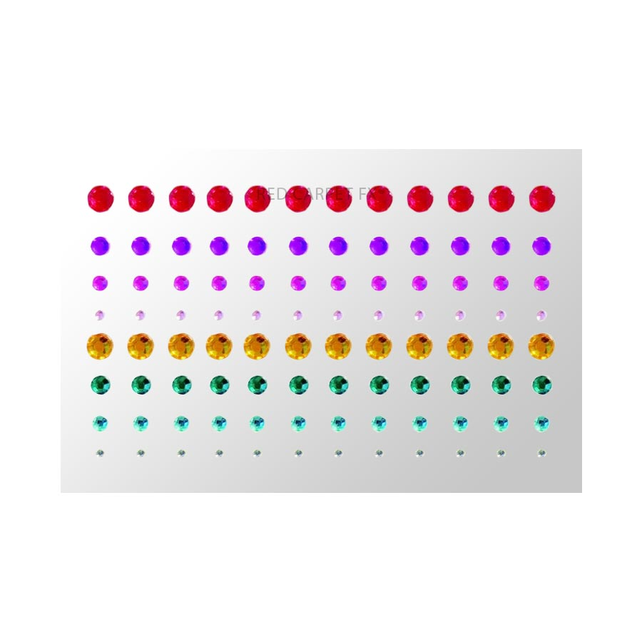 Make-up FX 100 Self-adhesive Face Gems - Multicolour