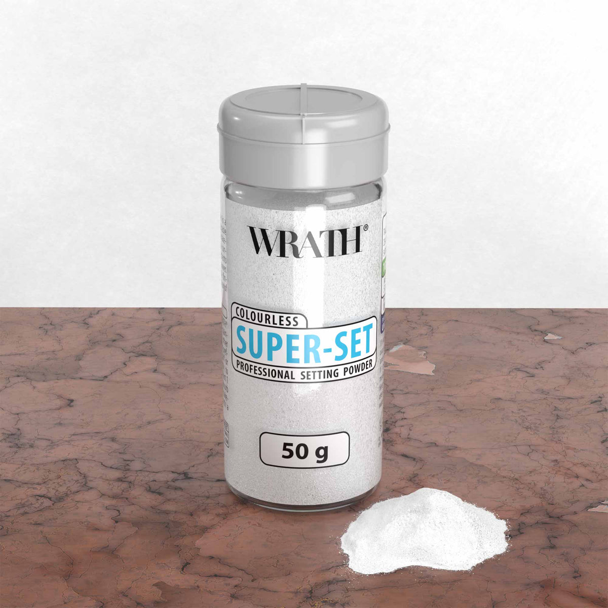 WRATH Super-Set Powder - Professional Setting Powder - Colourless