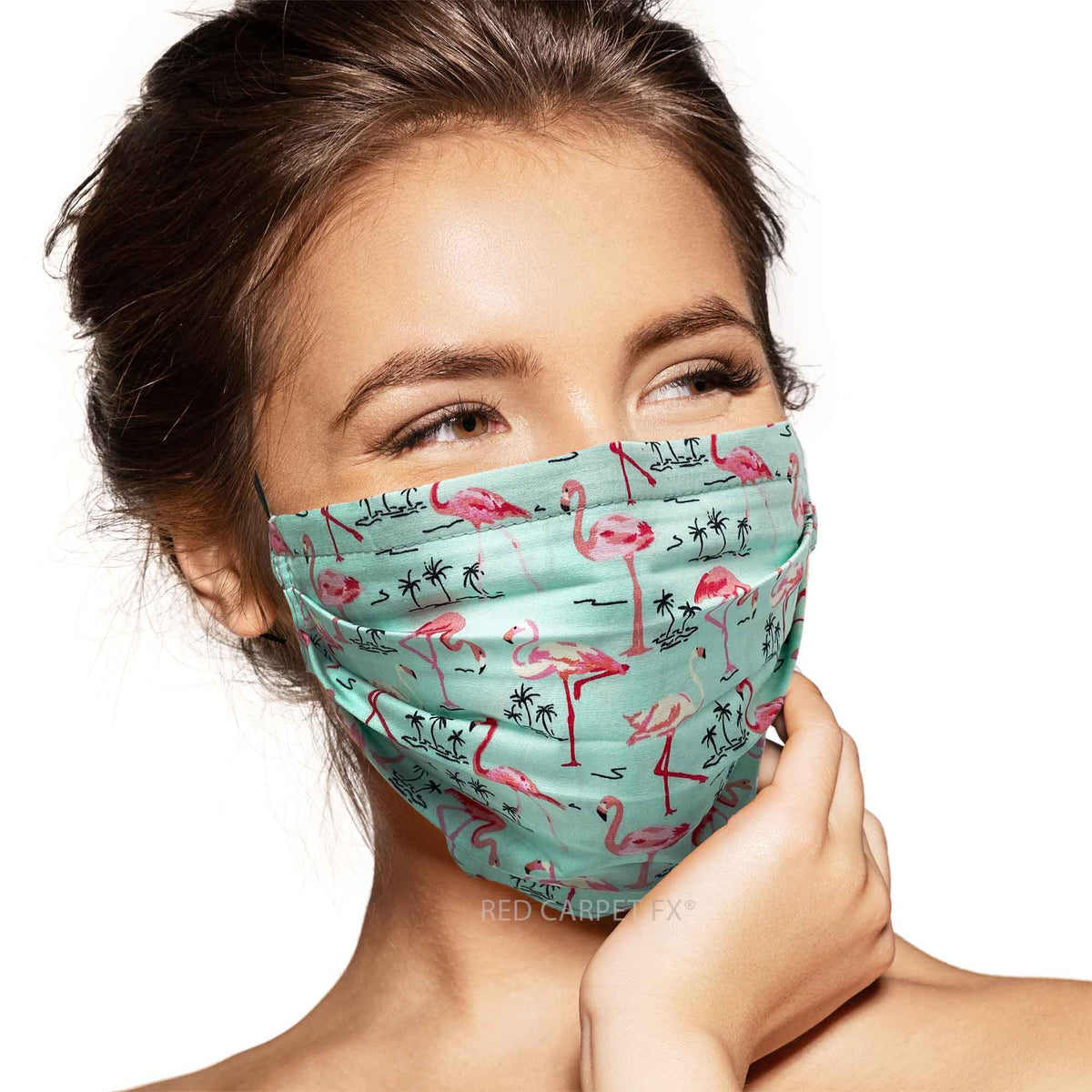Pebbles Handmade 3 Layer Cotton Face Mask - Tropical