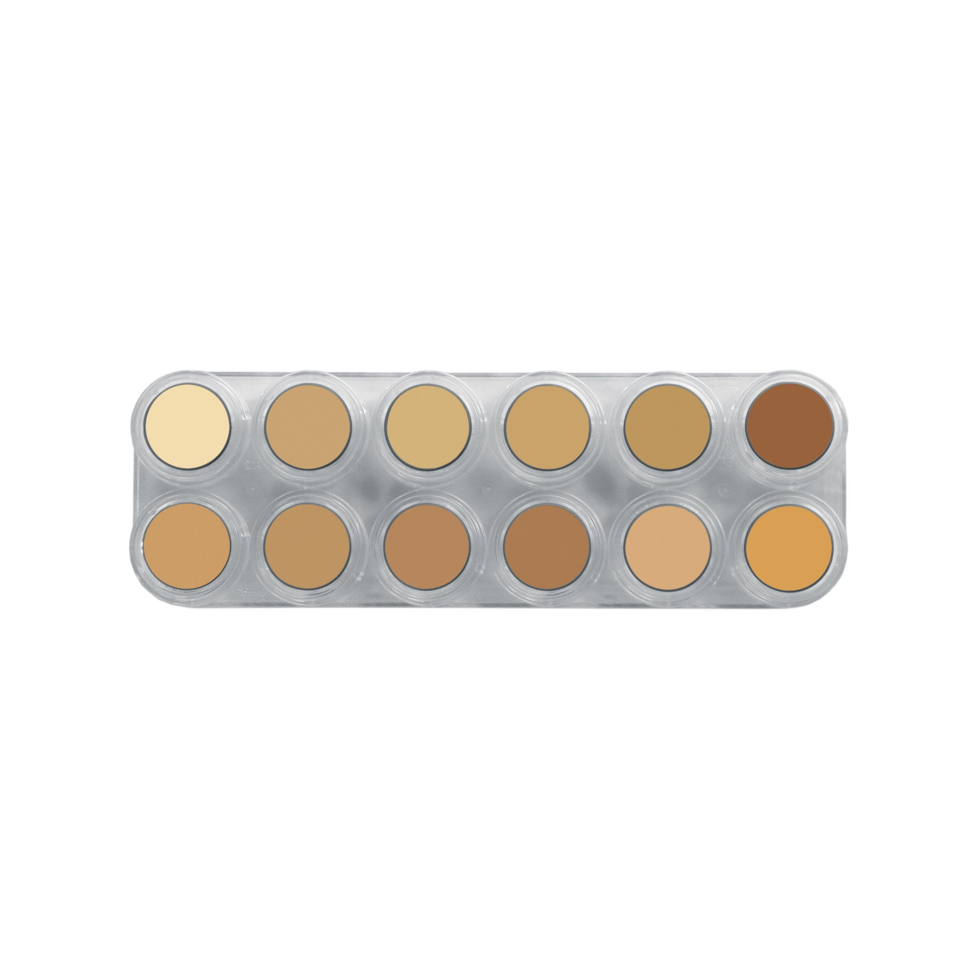 Grimas Pure Crème 12 Colour Face Paint  Palette - V - Red Carpet FX - Professional Makeup