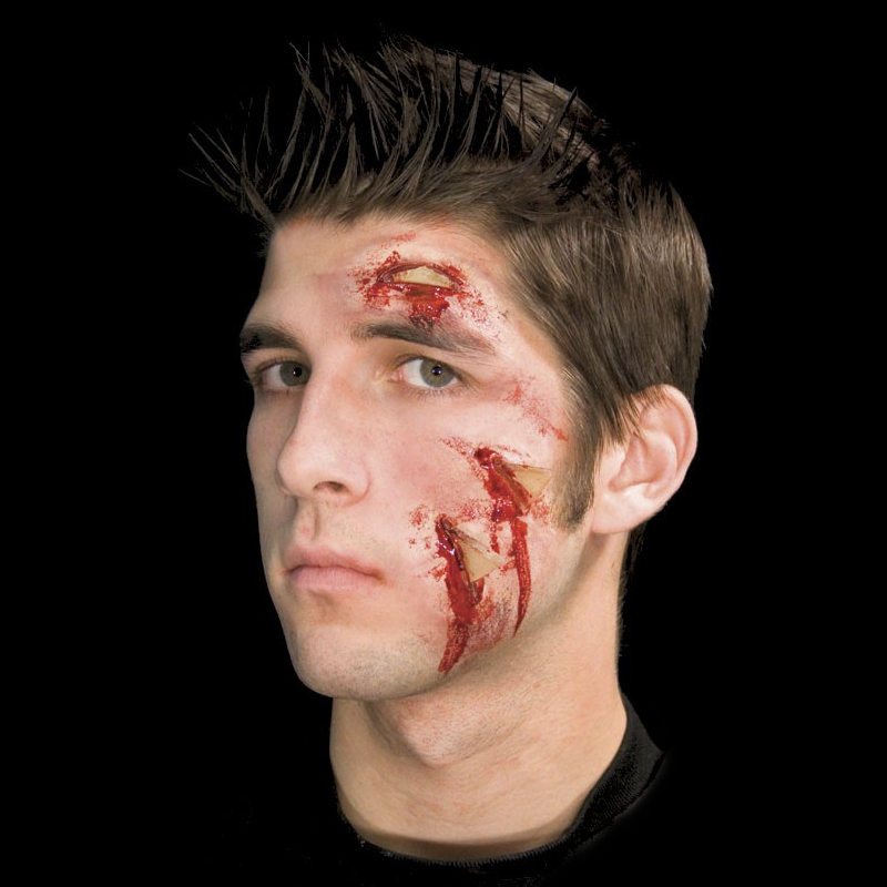 Woochie Latex Prosthetic Glass Attack - Red Carpet FX - Professional Makeup