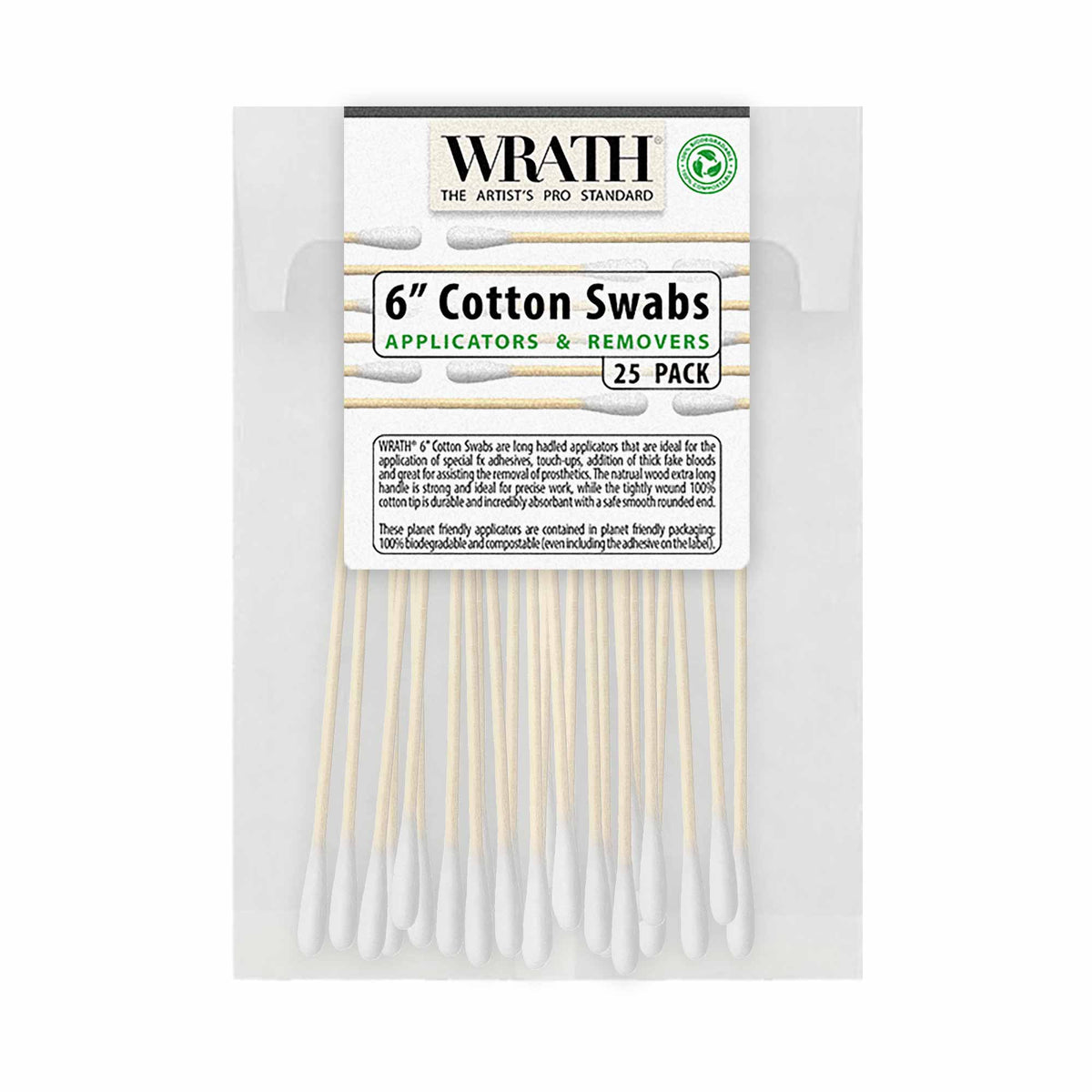 "WRATH 6"" Cotton Swabs - Biodegradable"