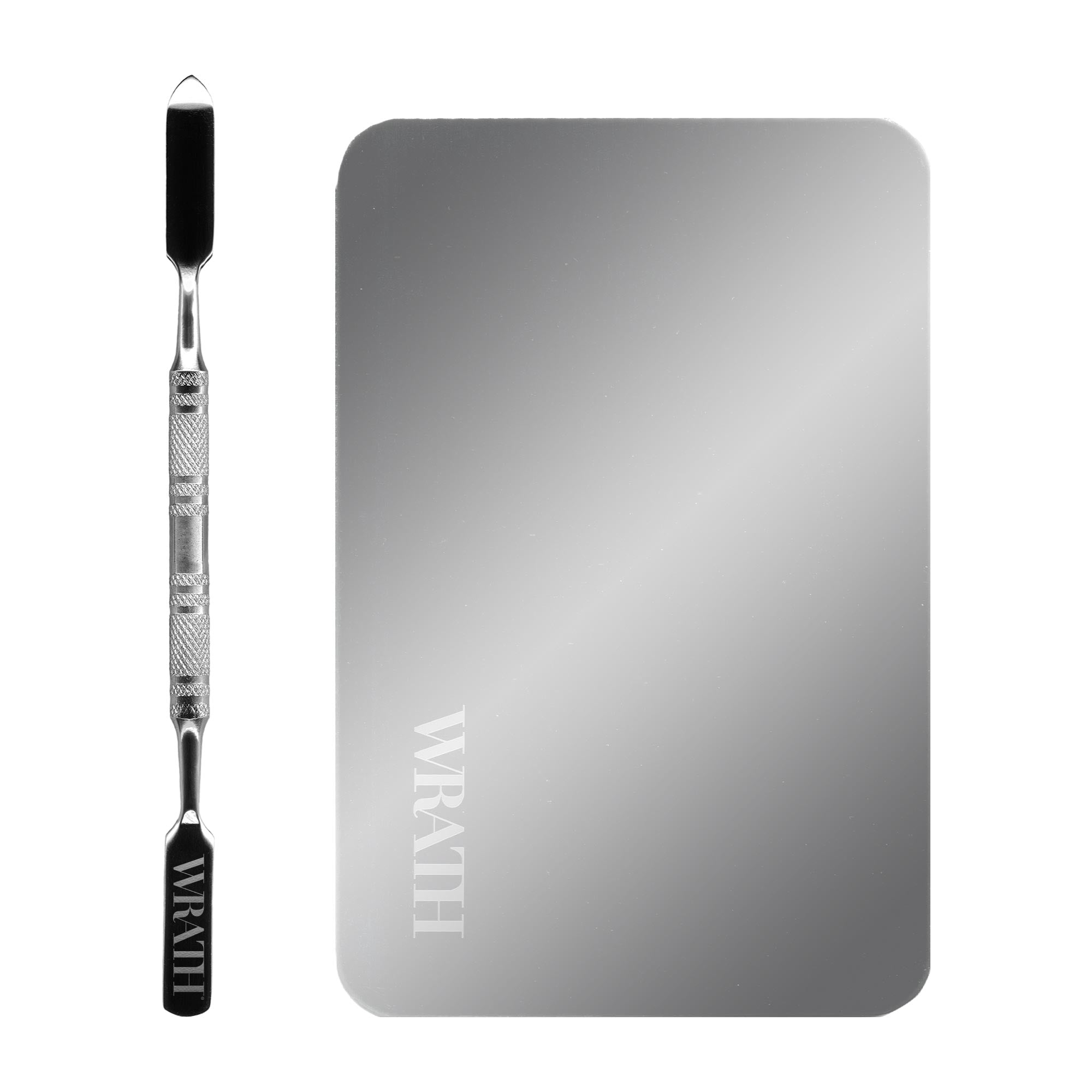 WRATH Compact Stainless Steel Palette & Spatula Set