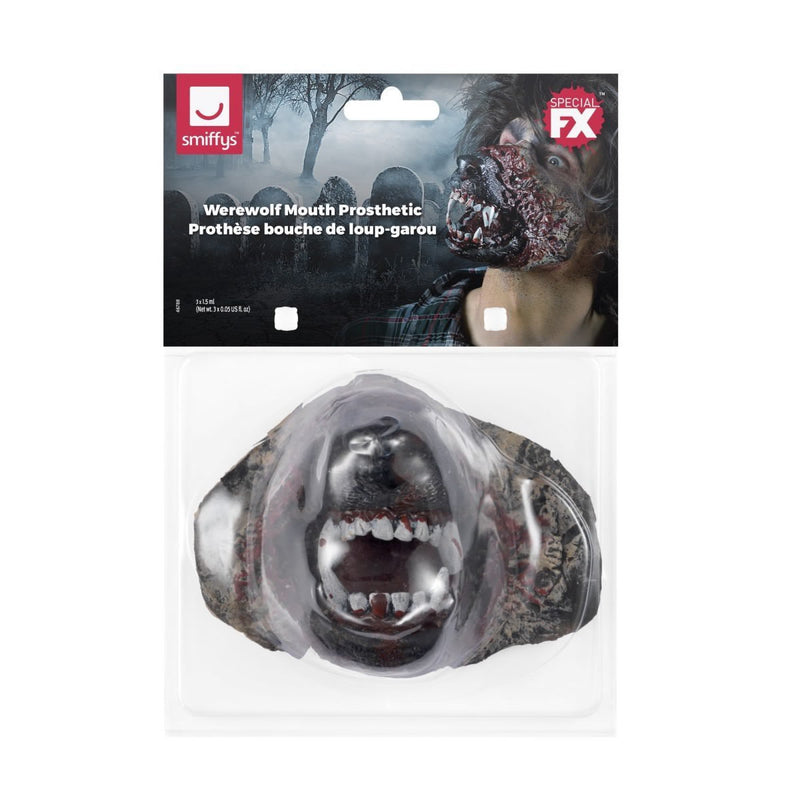 Make-up FX Foam Latex Werewolf Mouth Prosthetic