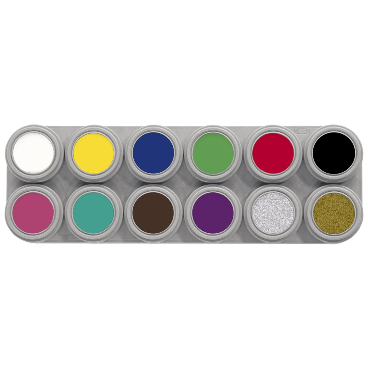 Grimas Pure Water Makeup 12 Colour Palette (A) - Red Carpet FX - Professional Makeup