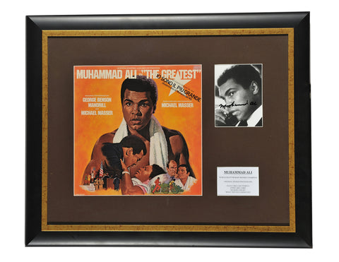 Boxing Memorabilia, Signed Muhammad Ali Photo, Framed