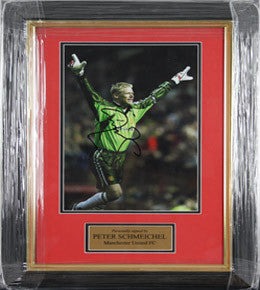 Manchester United FC, Signed Peter Schmeichel Photo, Framed