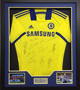 Chelsea FC Squad Signed Away Shirt, Premier League Winning Team 2014/15, Framed