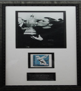 "Golf Memorabilia, Signed Gary Player ""9 Times Major Winner,"" Framed"