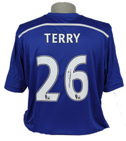 "John Terry Signed ""Terry 26"" Chelsea Home Shirt 2014/2015"