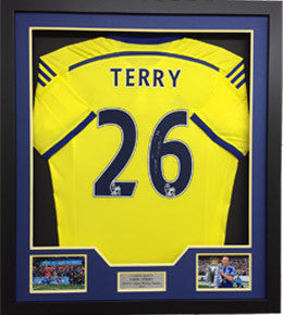 "John Terry Signed ""Terry 26"" Chelsea Away Shirt 2014/2015 Framed"