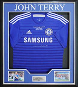 John Terry Signed Limited Edition Embroidered Champions 2014/2015 Shirt Framed