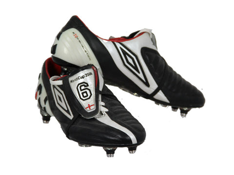 John Terry Signed Black and White Umbro Boots