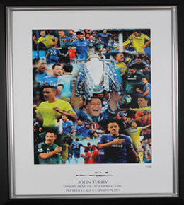 "John Terry Signed Limited Edition Montage ""Every Minute of Every Game"" Framed"