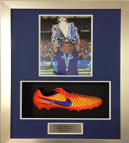 John Terry Signed New Orange Nike Majista Boot Framed