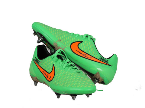 John Terry Signed Match Worn Green Nike Majista Boots 2014/2015 Season