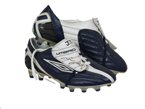John Terry Signed Blue and Grey Umbro Boots