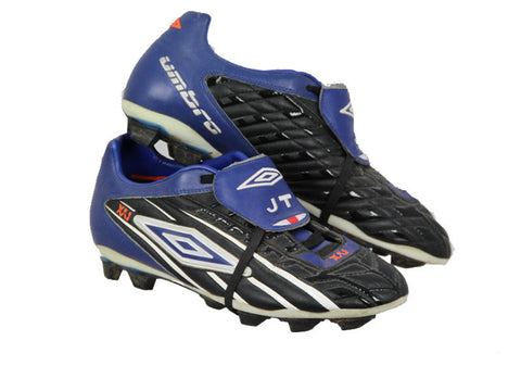 John Terry Signed Black and Blue Umbro Boots