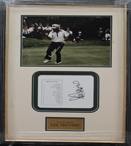 Golf Memorabilia, Signed Lee Trevino, Framed, The US Masters 1975