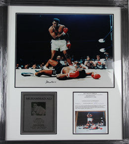 Boxing Memorabilia, Signed Muhammed Ali Photo, Framed